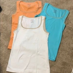 3 ribbed tanks from Chico's size 0 (small) bundle